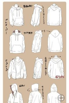 hoodie drawing Turorial Drawing on Instag - hoodies Drawing Base, Drawing Tips, Drawing Sketches, Drawing Drawing, Anatomy Drawing, Figure Drawing, Drawing Ideas, Manga Clothes, Drawing Clothes