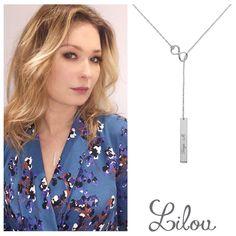 Polish actress Marta Dąbrowska loves the necklace of an extreme subtlety #bemylilou #necklace #infinity #jewelry #fashion