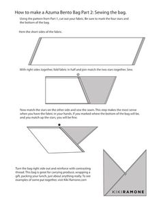 Instructions for making the Azuma Bento bag, Part Two