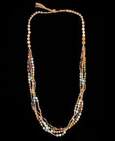 Nakamol Amazonite Yellow Mix Bead Necklace!    www.southmoonunder.com