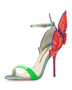 Sophia Webster Chiara Butterfly-Back Sandal - Neiman Marcus