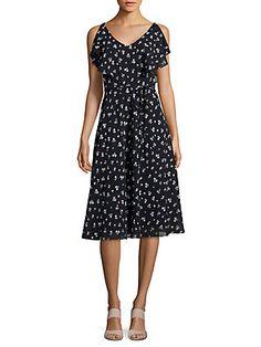 d02345cbceae Gabby Skye - Floral Printed Ruffled Dress