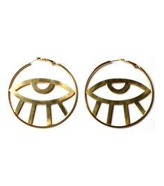Third Eye Hoop Earrings   By Samii Ryan