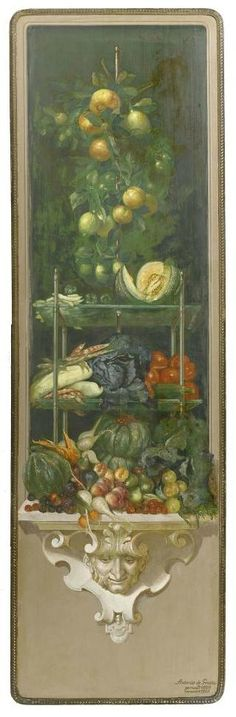 Antonio de Grada (Swiss, 1858-1938), The four seasons, 236x69.50cm