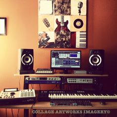 This is where most of my music compositions are created. #collageworld