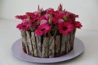 Flowerarrangement Pink Flowers, Bloementaart