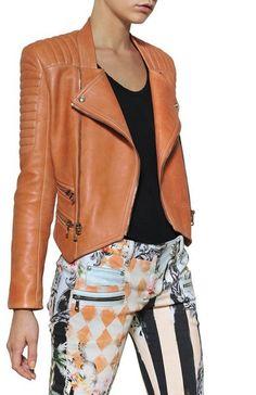 BALMAIN Nappa Leather Biker Jacket