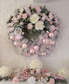 This rose wreath is so beautiful.