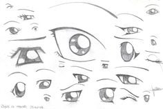 How to draw manga eyes by ~x3mOgirlx on deviantART