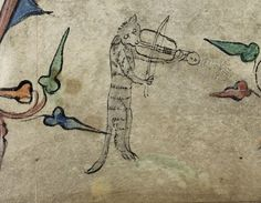 This cat has had it RIGHT UP TO HERE with this stringed instrument.   44 Medieval Beasts That Cannot Even Handle It Right Now