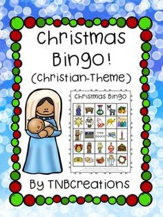 Christmas Bingo: This Christmas Bingo (Christian version) is so much fun! Includes 30 different cards and is perfect for a Christmas celebration!