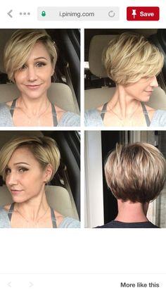 Thin Hair Haircuts, Cute Hairstyles For Short Hair, Short Hair Cuts For Women, Pixie Hairstyles, Pixie Haircut, Medium Hair Styles, Short Hair Styles, Haircut And Color, Great Hair