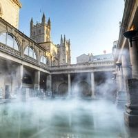bath, uk.  roman baths + lunch + thermae spa