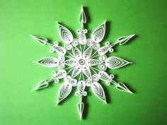 QUILLING Unique and Beautiful GIANT Lacy SNOWFLAKE. ---Etsy.