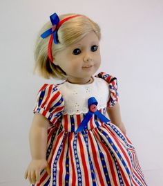 18 inch Doll Clothes American Girl Doll Red by snowflakeboutique, $18.00