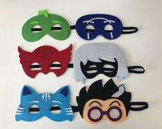 Personalizada PJ máscaras capa y máscara set  PJ máscaras