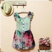 Sweet retro falbala dress