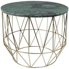 Elegantní odkládací stolek Boss s deskou z mramoru