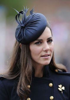 Kate wore presenting medals to Irish Guards at Windsor