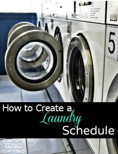Laundry Schedule! How to Create a Schedule to get Organized at Home!
