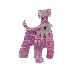 """Limited Edition The Schnauzer and Klaus brooch in Lavender. """"""""Yes a table for one please."""" The waitress sniffs """"You can't be in here... you're a dog"""". Klaus sighs and puffs up his chest """"I'm all man and I don't know why people keep getting confused. I'm sure it must be the moustache!"""""""