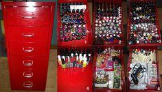 Ikea Helmer Nail Polish storage ideas
