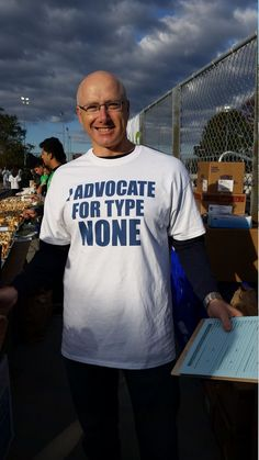 Love the JDRF Advocacy shirt! Everyone knows who the Advocates are at this Walk!