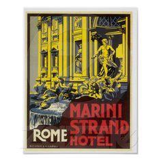 Rome Trevi Fountain Poster from Zazzle.com