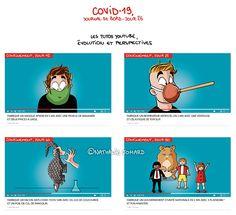 COVID19 - Journal de bord illustré, jour 26, by ©Nathalie Jomard #nathaliejomard #covid19 #coronavirus #illustration #humour #humor #confinement #quarantaine #quarantine #youtube #youtuber #video #tutorial #youtubetutorial #tutoyoutube #tutoriel #comics #bd #dessin #drawing #funny #drôle #masque #mask #pangolin #respirateur Drawing, Tutorial, Fictional Characters, Jokes, Corona, Funny Illustration, Humor, Laughing, Comics