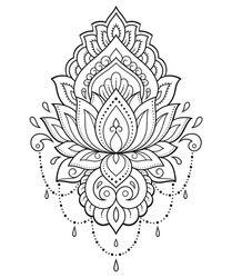 Portfolio d'images et de photos de Katika, avec 5616images de grande qualité libres de droits. Mehndi Flower, Style Indien, Henna Drawings, Lotus Flower, Designs To Draw, Royalty Free Images, Flower Patterns, Illustrations, Paisley