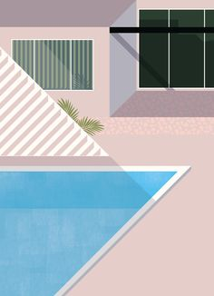 Another piece by Josh McKenna, just love his choice of colours and his flattened childlike simplified renderings.