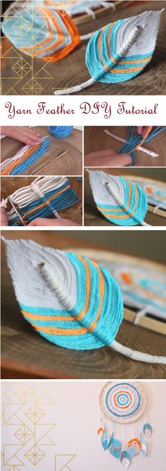 Yarn Feather Tutorial = super . Recette fabric stiffener