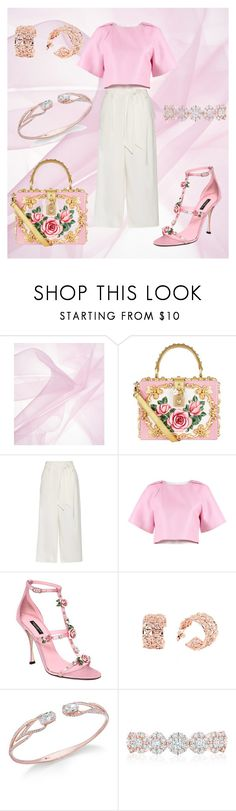 """Pink 🌸💕"" by cecilvenekamp ❤ liked on Polyvore featuring Dolce&Gabbana, By Malene Birger, TIBI, Co.Ro, Eliot Danori and Birks"