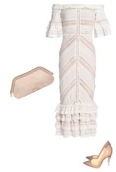 """""""Romance"""" by moxystyle on Polyvore featuring Cinq à Sept, Christian Louboutin and Burberry"""