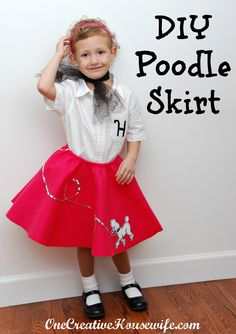 One Creative Housewife: 50s Day Poodle Skirt {Tutorial}--I hope I can talk my girls into this for Halloween!