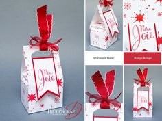 """by Djudi'Scrap - Tutoriel Boîte Chocolats """"Insta'Pochette / Gift Bag Punch Board"""" Envelope Punch Board, Box Patterns, Craft Box, Stampin Up, Cool Cards, Christmas Projects, Diy And Crafts, Gift Wrapping, Inspiration"""