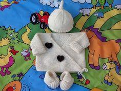 brassière gilet bébé bonnet chaussons tricot laine layette