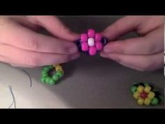 How to make a Kandi flower ring tutorial - YouTube