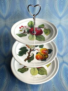 Purely Portmeirion Cake Stand Three Tier In by PurelyPortmeirion, £40.00