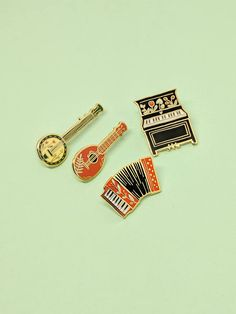 Band Pin Set // Hard Enamel Enamel Pin Pin Lapel Pin