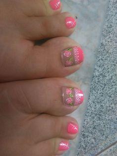 Cute Pedicure Designs, Nail Art Designs, Toe Nail Art, Toe Nails, Cute Pedicures, Pink Toes, Gorgeous Feet, Fairy, Designed Nails