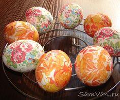 пасхальные яйца украшенные салфетками