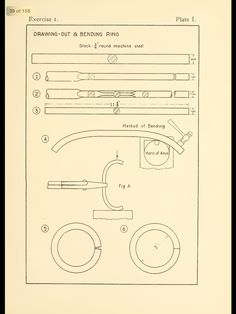 Plate 1 for making ring.