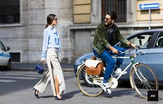 Patricia Manfield & Giotto Calendoli during Milan fashion Week Spring Summer 205.