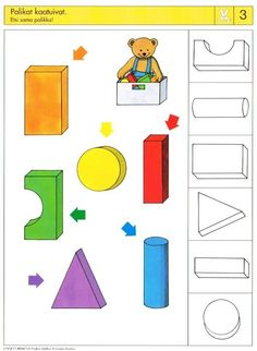 Piccolo: schaar kaart 3 Kindergarten Math Activities, Gross Motor Activities, Montessori Activities, Special Education Activities, Kids Education, Sequencing Cards, Shape Games, File Folder Activities, Activity Bags