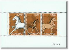 Uganda 2002 -  Chinese Lunar New Year  3 Proud horses
