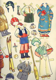 Vintage Paper Doll Costumes by contrarymary, via Flickr