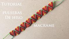 pulseras de hilo anchas faciles de hacer friendship bracelets macrame