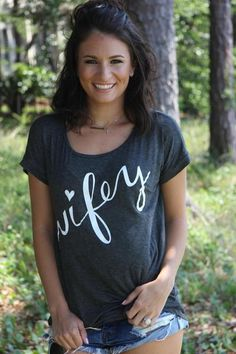 Wifey tee.   Perfect gift for a bride, bridal shower or any wife! sugarloveboutique.com
