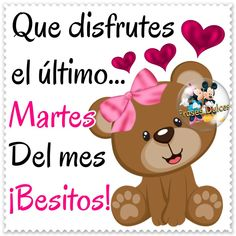 Que disfrutes el último Martes del mes ¡Besitos! Minnie Mouse, Disney Characters, Amor, Good Night Greetings, Sweet Quotes, Pretty Quotes, Disney Face Characters